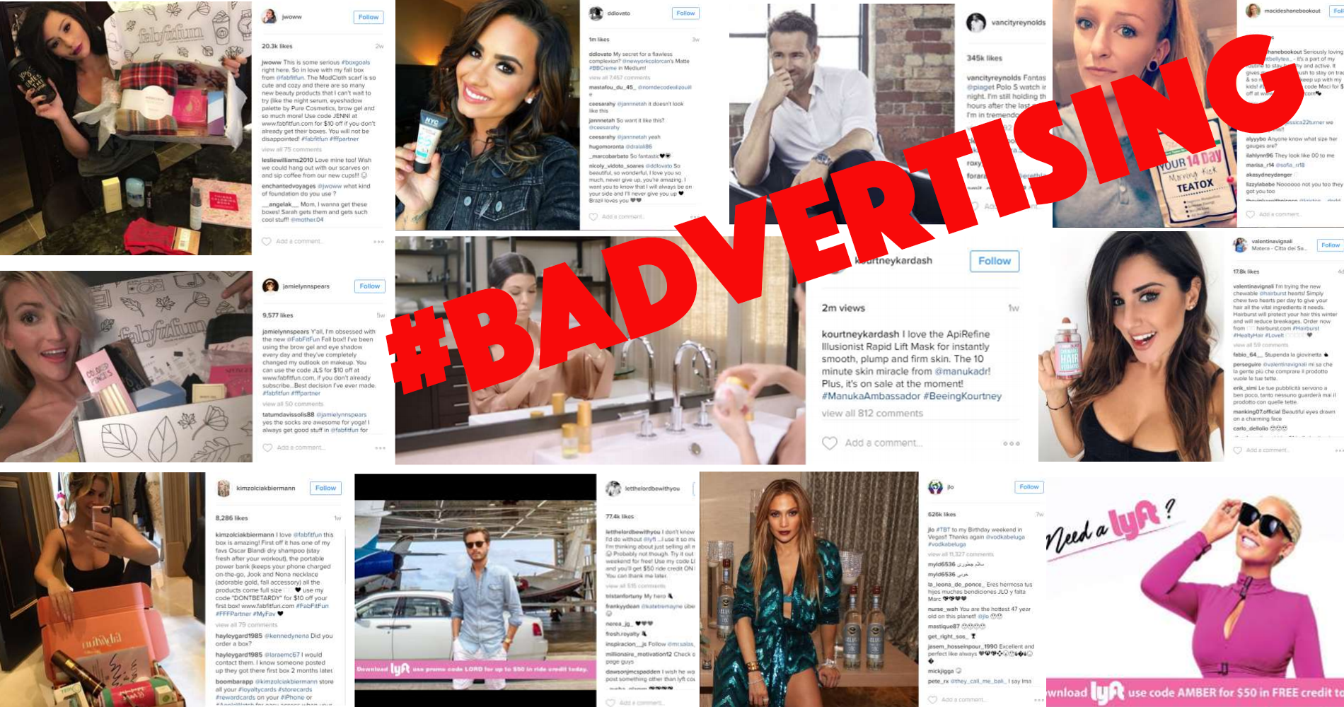 Feds Warn Social Media 'Influencers' To Stop It Already With The Stealth Ads