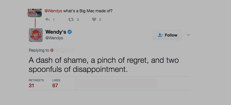 "Wendy's Recipe For A Big Mac: ""Dash Of Shame… 2 Spoonfuls Of Disappointment"""