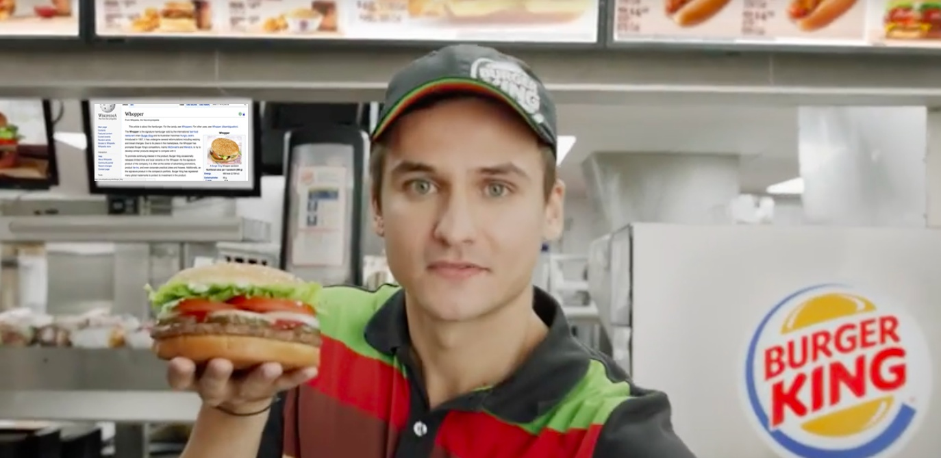 Wikipedia Editors Condemn Burger King For Edits Related To Google Home Stunt