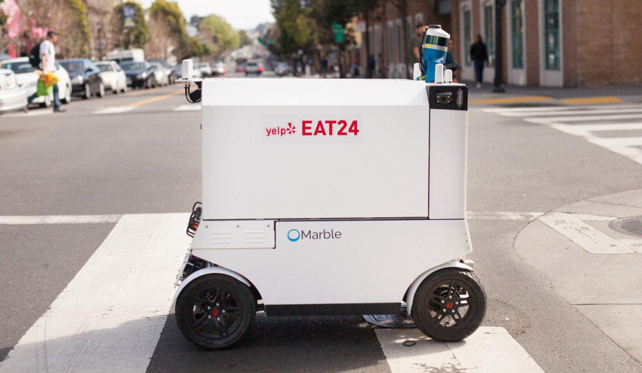 Robots Now Delivering Food For Yelp's Eat24 Service In San Francisco