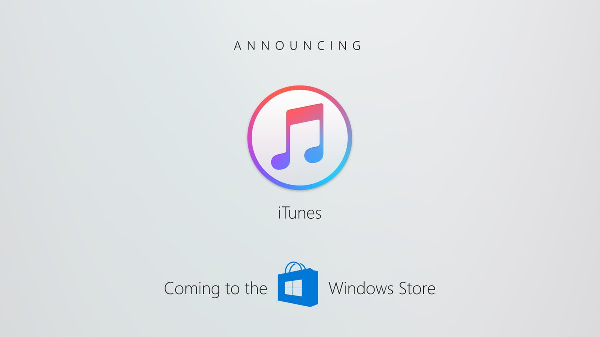 Apple Adding iTunes To Windows Store