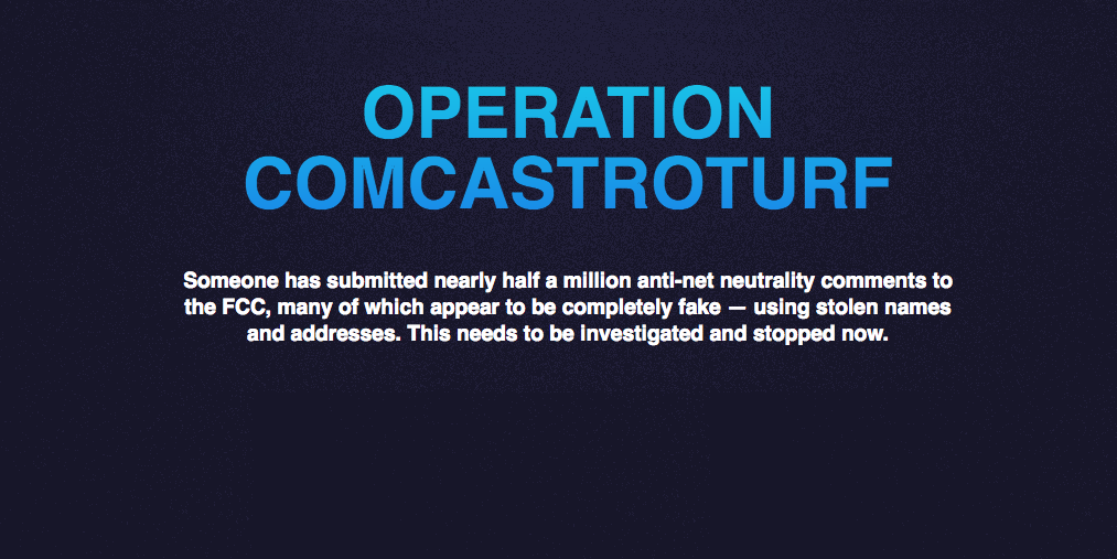 Comcast Backs Off On Threat To Sue Operators Of 'Comcastroturf'