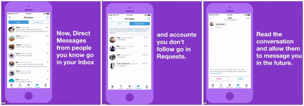 Twitter Creates New Inbox For Direct Messages From Strangers