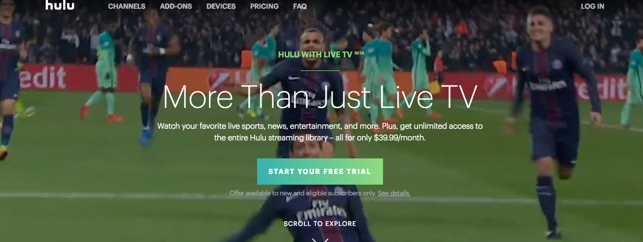 Hulu Launches $40/Month Live TV Service