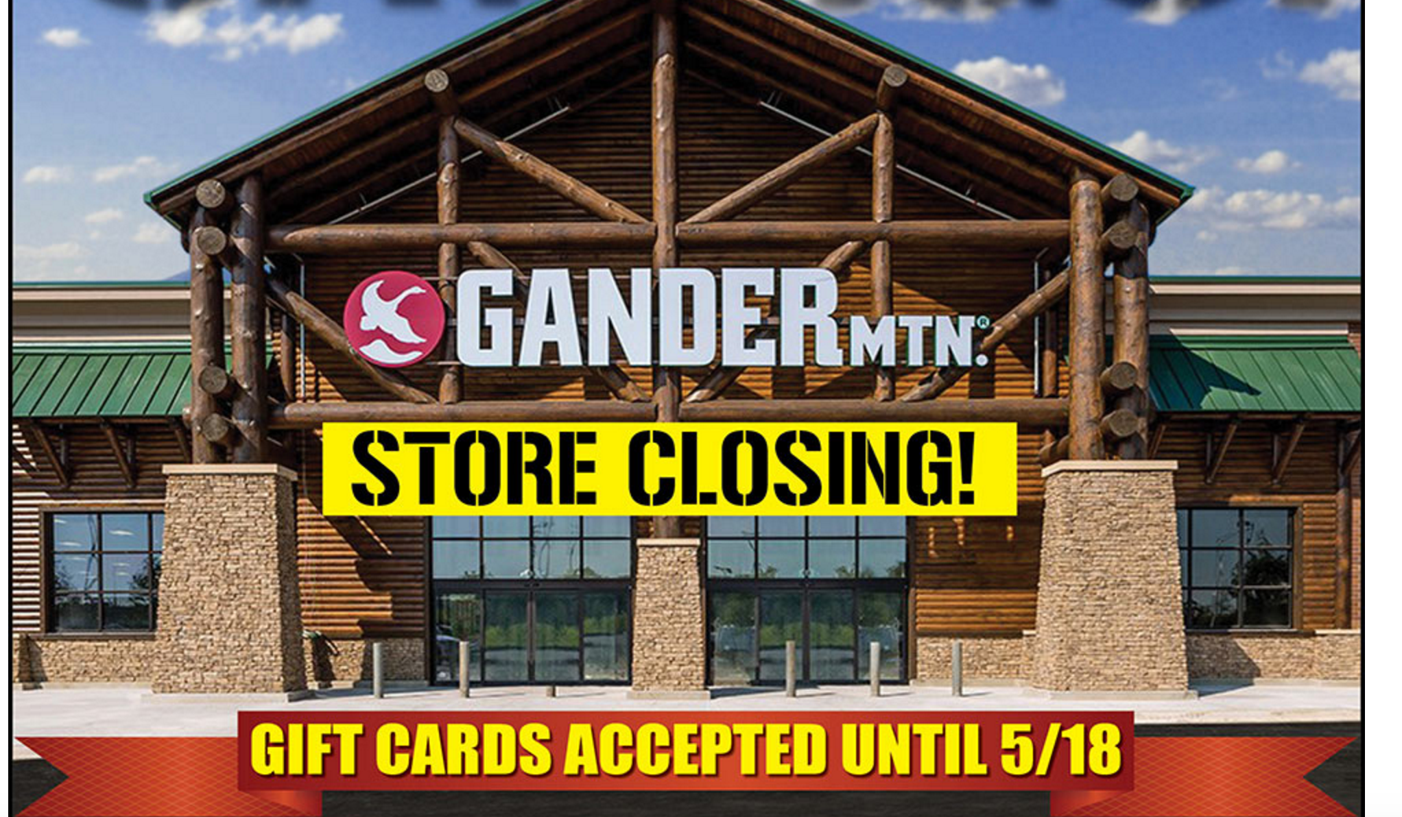 Gander Mountain Advertises That All Stores Are Closing, But They Aren't