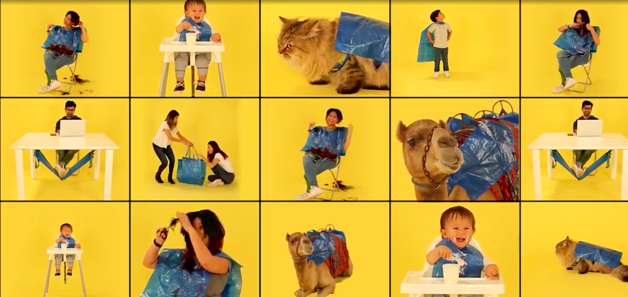 One IKEA Offers Instructions On How To Turn Those Blue Bags Into Pet Raincoats & Picnic Blankets