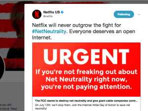 Netflix Changes Its Mind, Decides Maybe It Does Care About Net Neutrality Again