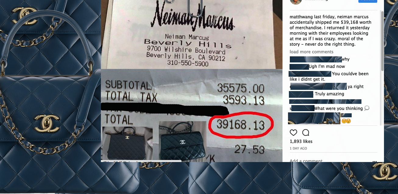 Surprise Delivery From Neiman Marcus: $40K Worth Of Purses You Didn't Order