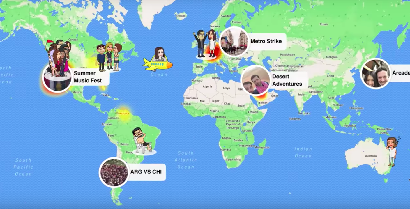 Snapchat Wants To Help You Stalk Your Friends With New Map Feature