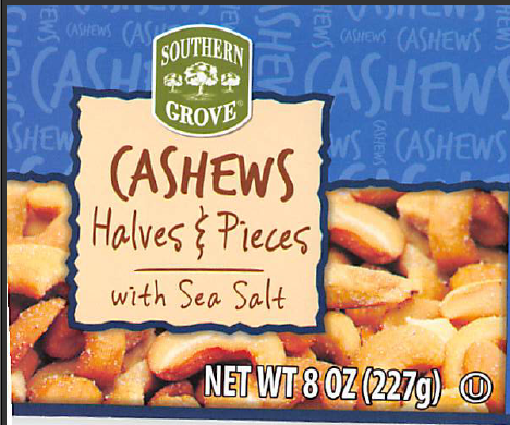 Cashews Sold At Aldi Recalled Because Glass Isn't A Tasty Snack