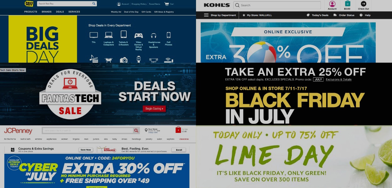 JCPenney, Kohl's & Others Jumping On Amazon's Prime Day Coattails With Their Own Promotions, Deals
