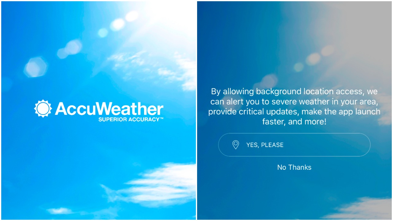 If You Don't Want AccuWeather Sharing Your Location Even When You're