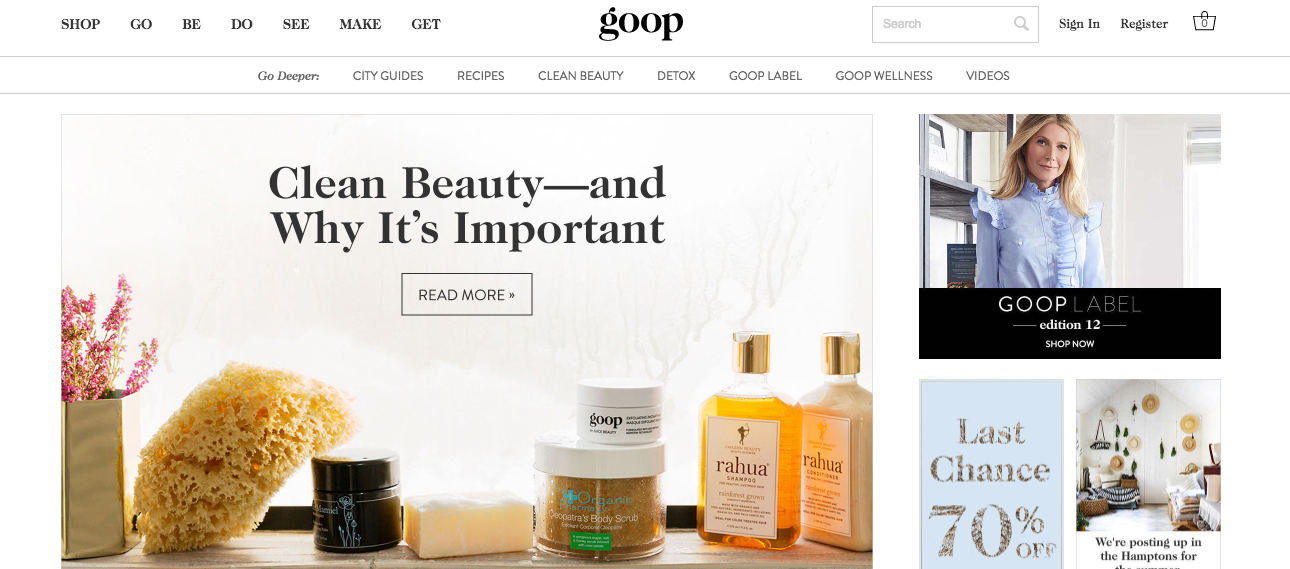 Ad Watchdog Group Calls For Investigation Into Gwyneth Paltrow's Goop