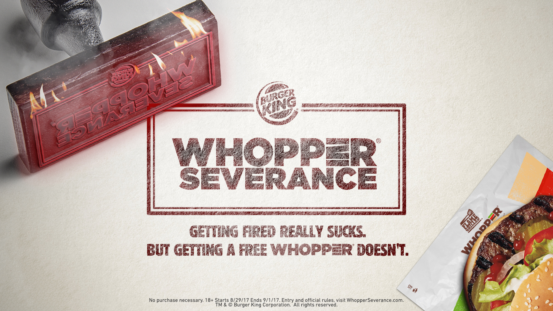 Burger King Giving Free Whoppers To Customers Who Admit To Being Fired