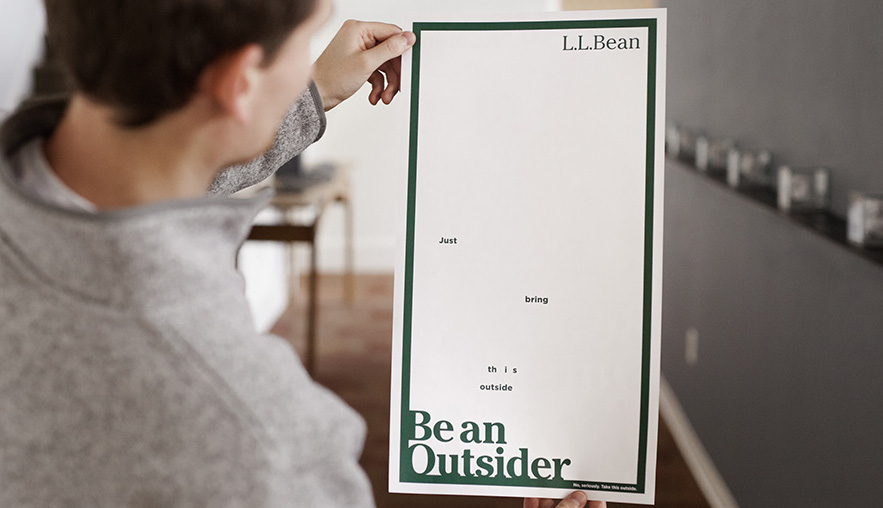 L.L. Bean Runs Full-Page Ad You Can Only Read In Sunlight