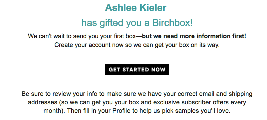 Birchbox Will Share Your Mailing Address With Anyone Who Sends You A