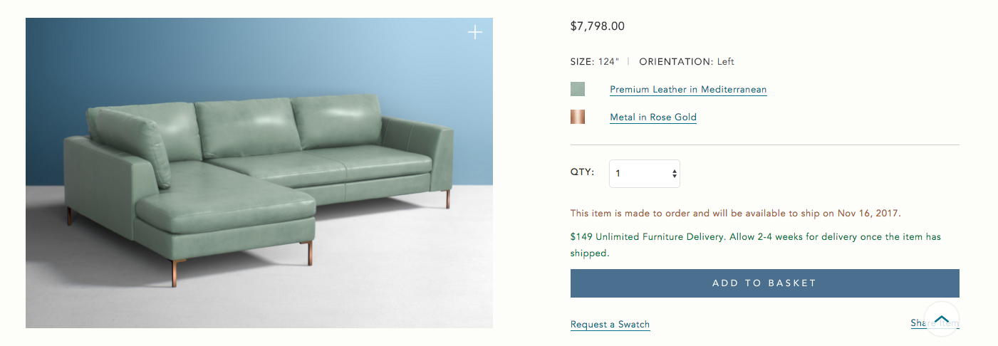 Anthropologie Cancels Orders After Accidentally Listing $8,000 Couches For Free
