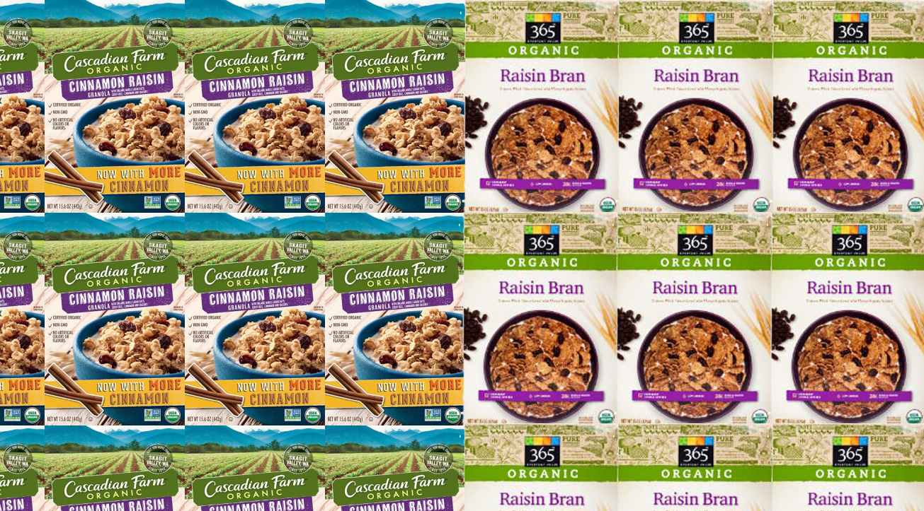 Cascadian Farms Granola, Whole Foods Raisin Bran Recalled For Undeclared Nuts