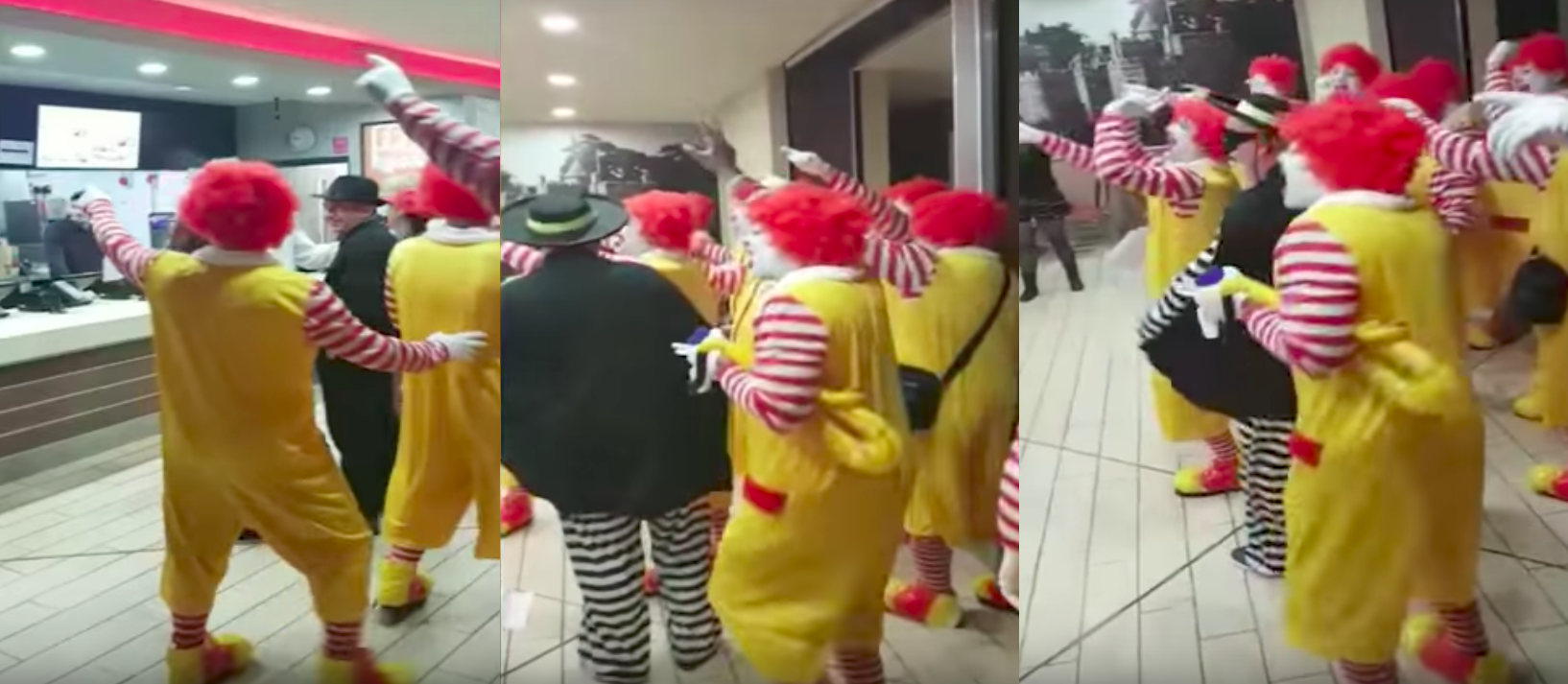 Gang Of Ronald McDonald Clowns Storms Burger King, Taunting Workers