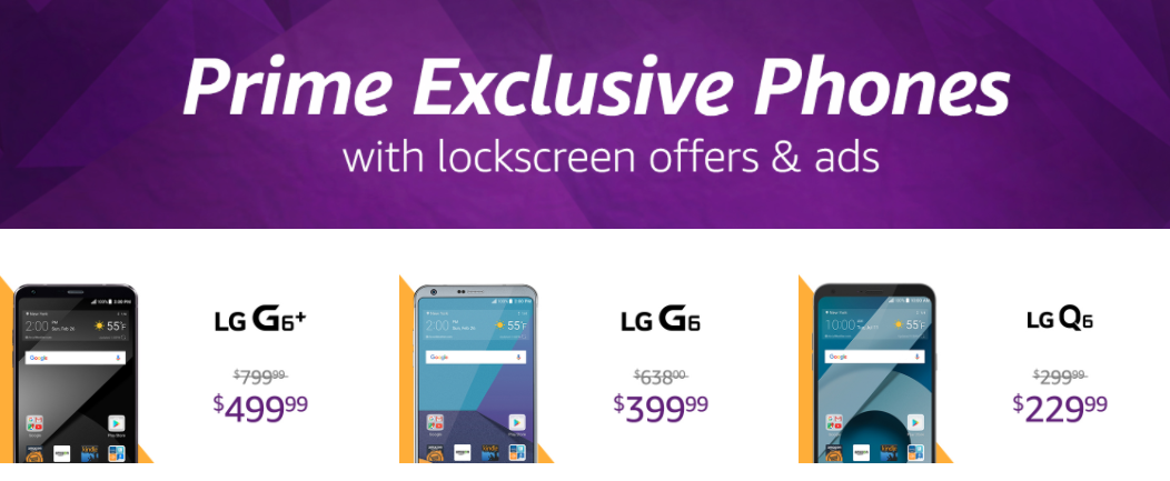 Amazon Selling Discounted LG Phones, But You Have To See Ads All Day